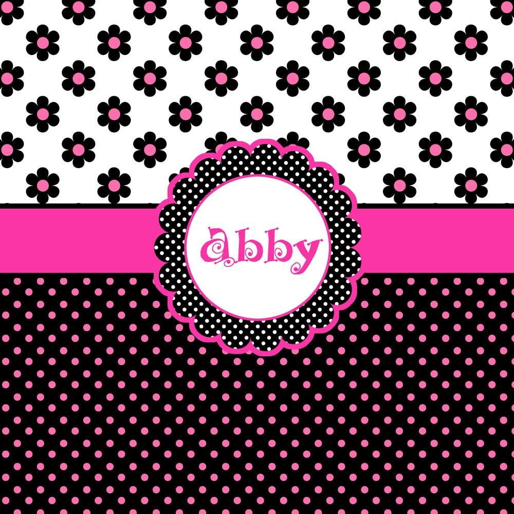neon pink polka dot wallpaper