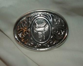 AVON Silver Saddle Belt Buckle
