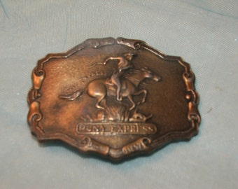 Pony Express Belt Buckle