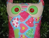 Large. Baby Love Owl. Customized with Alysha letters.  30cm x 38cm