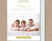 "Script Easter Card ""DIGITAL PRINTABLE FILE"""