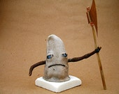 Handmade Found-Object Art Doll from the Glove-oo-doo series: The Executioner