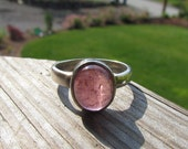 Pink Tourmaline Ring - Size 8 1/2 - Made with Recycled Sterling Silver
