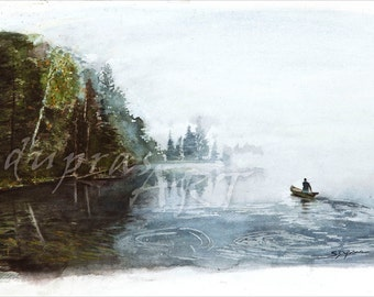 Morning Solitude - a 16x20 Watercolor Limited Edition Fine Art Giclee Print by Scott Dupras