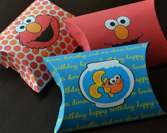 3 Elmo Favor Boxes, Elmo Favor Bags, Elmo Party Gift, Sesame Street Elmo Birthday Decor, Elmo Birthday Party Favor, Elmo Party Printable