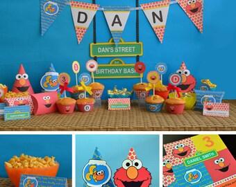 Elmo Party Printable, Elmo Birthday Printable, Elmo Birthday Decor, Elmo Party Supplies, Elmo Birthday Set, Elmo Birthday Party, Hats, Gift