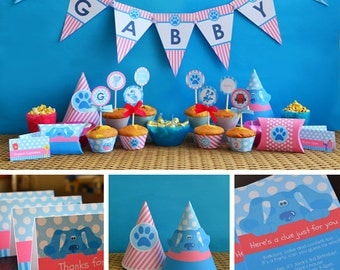 Pink Blues Clues Party Printables For Girls