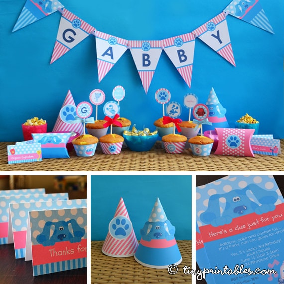 Blues Clues Party Printables For Girls – Blues Clues Party Invitations
