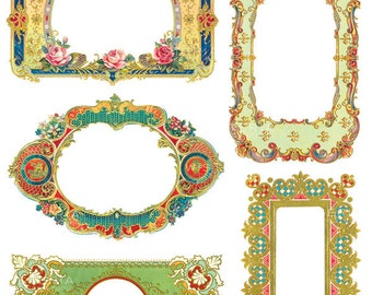 Ornate Decorative Frames Clip Art  - INSTANT DOWNLOAD - For Personal & Commercial Use - Digital Designs