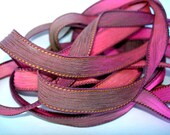 "Monarch 42"" hand dyed silk wrist wrap bracelet  ribbon//Yoga wrist wrap bracelet ribbons//Silk wrist wrap ribbon// By Color Kissed Silk"