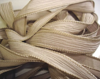 Cappuccino  42 inch silk ribbons, 5 pack,  By Color Kissed Singles