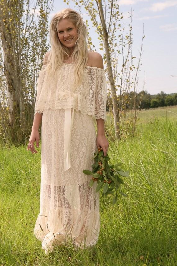 Vintage Wedding Dress - PHOEBE 1970s