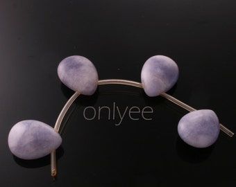 4pcs-16mmX12mm Candy jade soomth Puffy teardrops in multicolor 2Clors-Purple( L125-B)