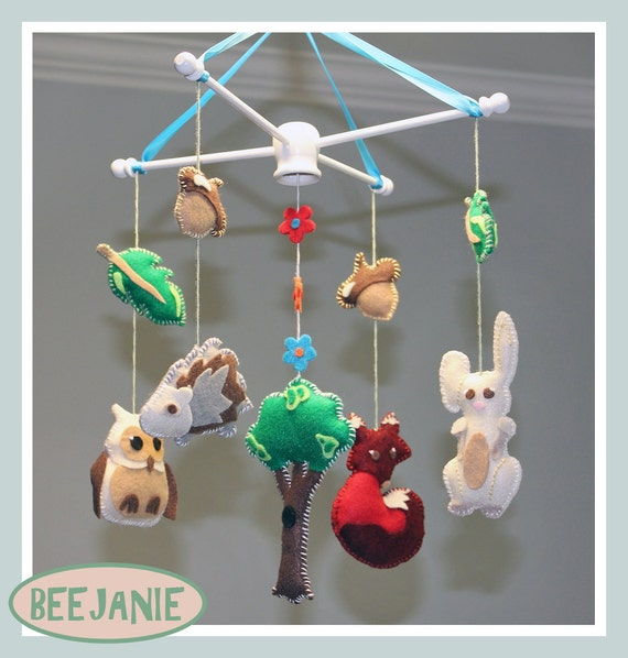 Handmade Forest Animals Mobile