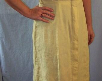 Yellow 1950s Shirt Dress- L
