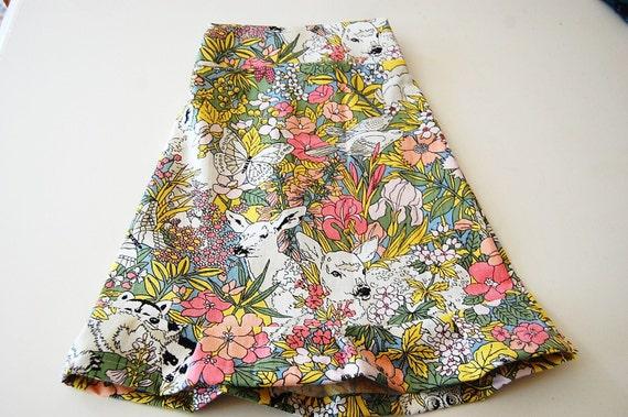 Little Girls ruffle skirt size 2T vintage fabric
