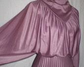 SALE PLEATED PRINCESS Mauve Long Dress