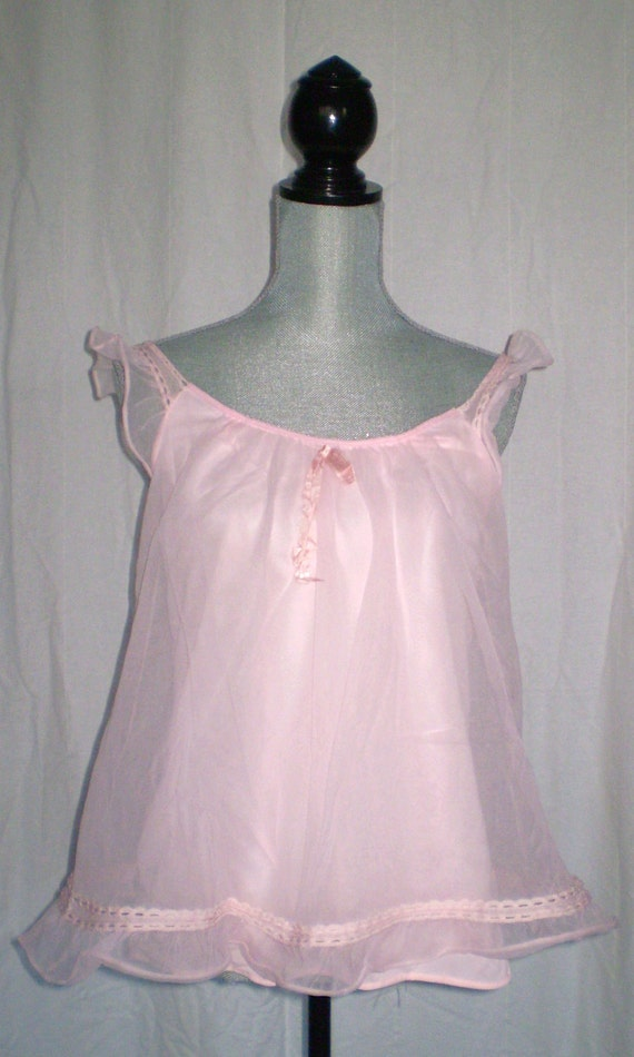 Pink Princess Vintage Baby Doll Nightie Size 8 By