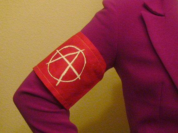 Adjustable Anarchy Punk Armband
