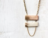 Gold dipped ladder necklace - limited edition