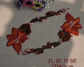 20cmx5cm lace applique trim -per 2pcs item no 10309