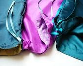 travel shoe laundry lingerie bag / silk - petrol, turquoise by supergruen
