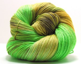 Bamboo Haiku Sock Yarn in Forest Primeval by Perfect Day Yarns