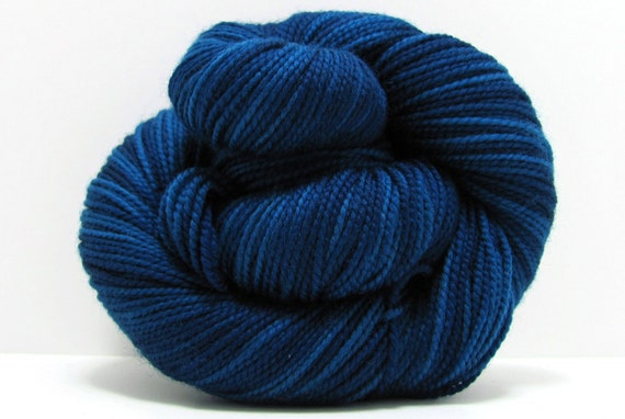 Sock Yarn in Midnight by Shibui Knits