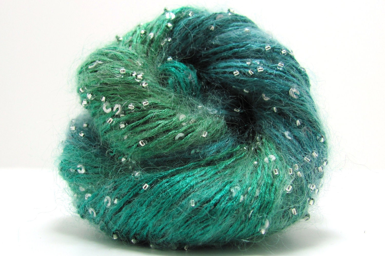 Mohair Yarn : Beaded and Sequin Mohair Yarn by Artyarns by AdelaideYarn on Etsy