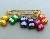 Stitch Markers RAINBOW of BUTTERFLIES for Knit or Crochet set of 6