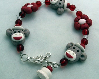 Child Kids Bracelet  SOCK MONKEY