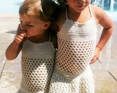 crochet girls dress or beach cover up