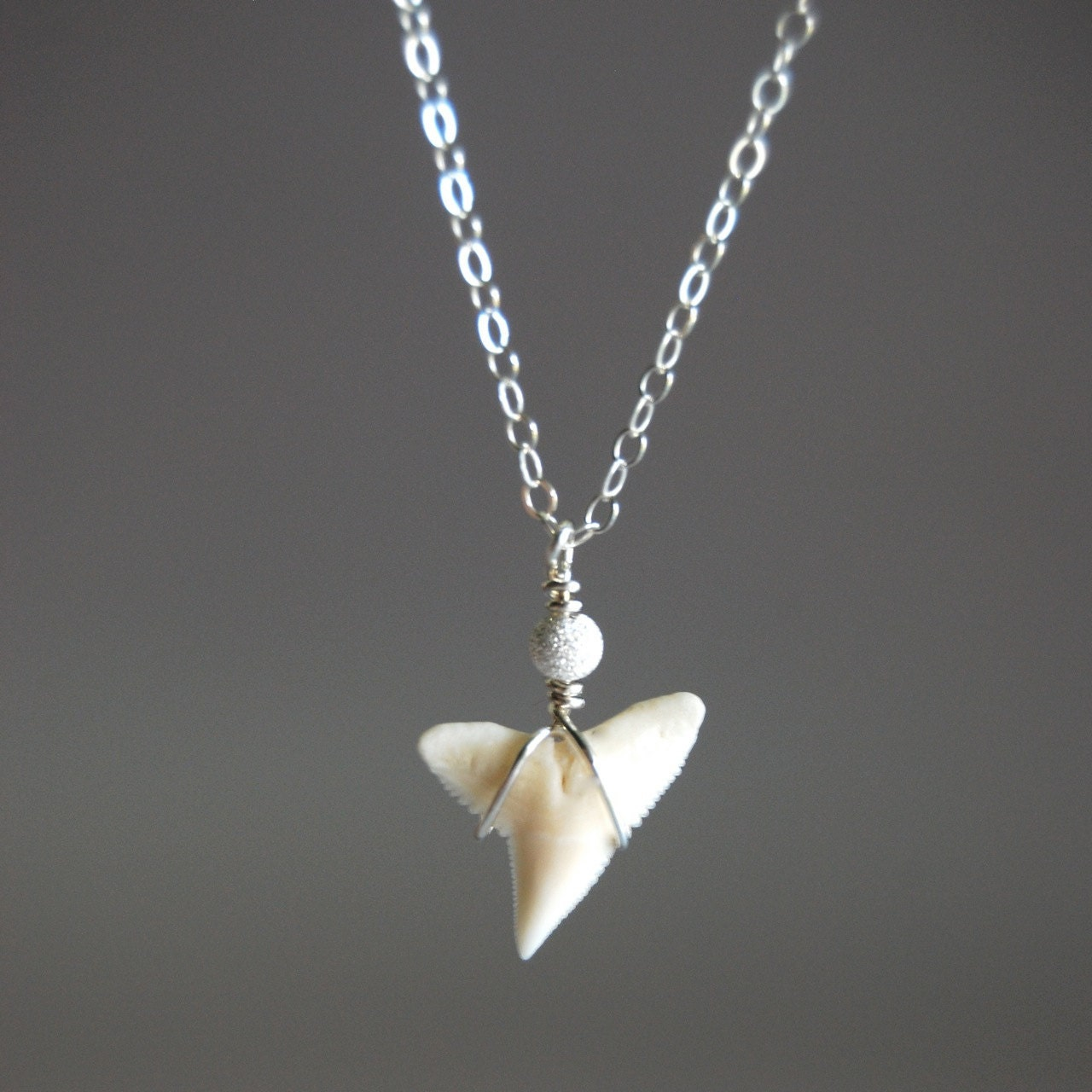 mano jr necklace tiny sterling silver shark tooth necklace