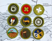 RESERVED FOR KITTY  Collection of 11 Vintage 1960s Boy Scouts Merit Badges