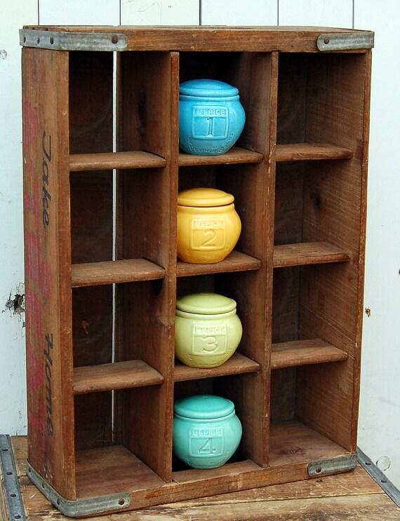 Vintage Wooden A-Treat Twelve Bottle Beverage Box