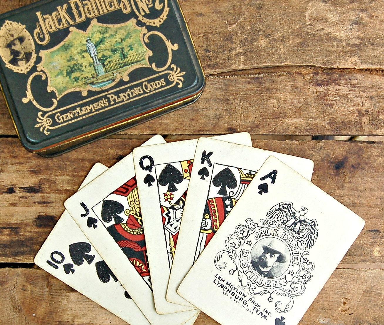 jack daniels poker cards