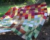 Vibrant fall colors quilt