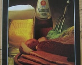Vintage Anheuser Busch BEER Meat and Potatoes AD 1980s