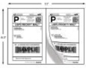 Shipping Labels - 100 Half-Page Shipping Labels for USPS, FEDEX, and UPS