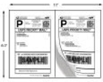 Shipping Labels - 200 Half-Page Shipping Labels for USPS, FEDEX, and UPS