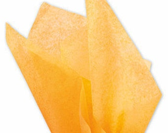 "48 sheets of APRICOT 20""x30"" Solid Tissue Paper"