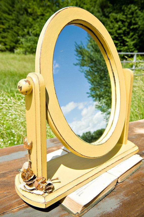 Mustard, Distressed, Small Vanity Mirror