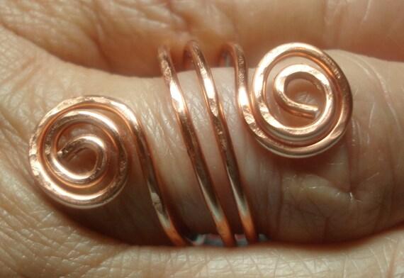 Triple Wrap Copper Swirl Ring