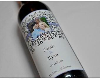Custom Wedding Wine Label- Personalized Label - Formal