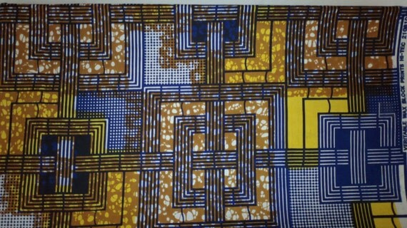 African Cotton Julius Holland Wax Print Fabric Sold Per Yard ( KITENGE)