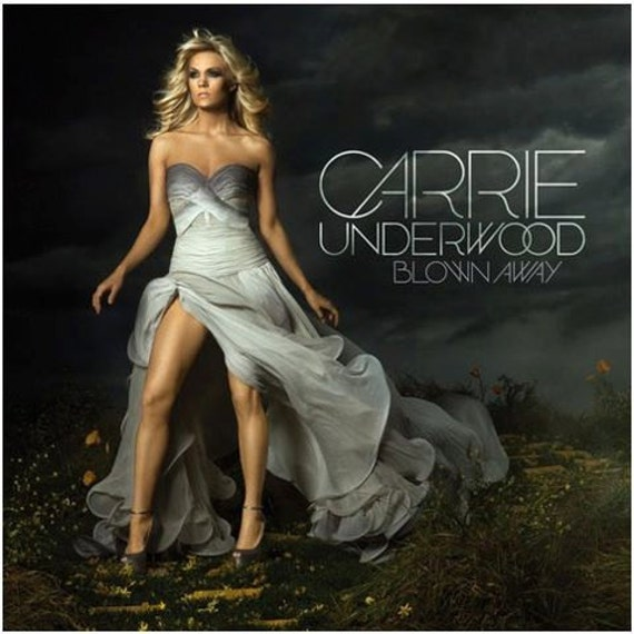 Carrie Underwood new album cover gray ombre gown by Irina Shabayeva