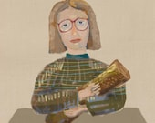 log lady's log / a4 art print