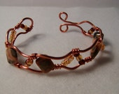 Copper Bracelet with beads and stones