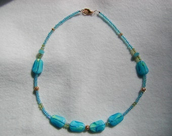 Light Turquoise Necklace and Earring Set