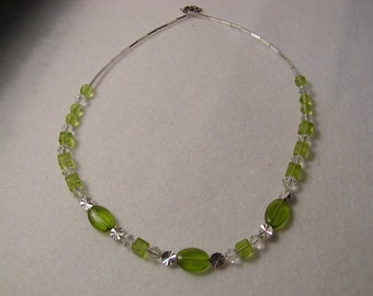 Light Green and Silver Necklace
